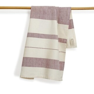 Handmade Hibiscus Artisan Woven Kitchen Towel (India)
