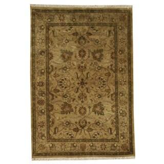 Kashan Gold Wash Dense Weave Wool Rug (4'2 x 6')