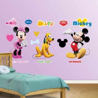 Fathead Mickey, Minnie and Pluto Wall Decals