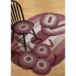 Alpine Burgundy Indoor/ Outdoor Rug/ Chair Pad 7-piece Set by Better Trends - 50' x 80'