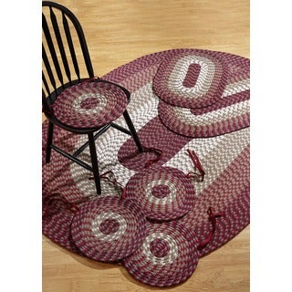 Alpine Burgundy Indoor/ Outdoor Rug/ Chair Pad 7-piece Set by Better Trends