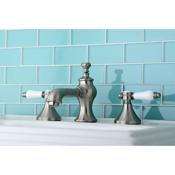 Shop Vintage Satin Nickel Widespread Bathroom Faucet Free Shipping Today 9650564