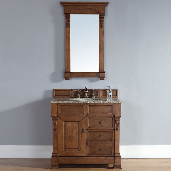 Brookfield Country Oak Single Cabinet Vanity Free Shipping Today Overstock Com 16833642
