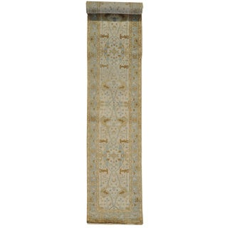 Washed Out Ivory Oushak XL Runner Rug (2'x 16')