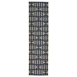 Hand-woven Durie Kilim Oriental Flat Weave Wool Runner Rug (2'8 x 9'10)
