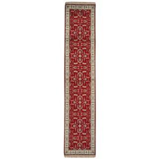 Silken 250 KPSI Red Esfahan Wool Runner Rug (2'6 x 12'2)