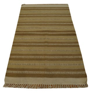 Hand Woven Wool Striped Durie Kilim Oriental Rug (2'9 x 5')