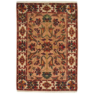 Signed Persian Bakhtiari Oriental Full Pile Wool Rug (5' x 7'1)