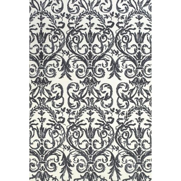 Grand Bazaar Karlin Slate / White Area Rug (8' x 11') - 8' x 11'