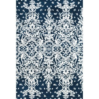 Grand Bazaar Power Loomed Polyester Pia Rug in Midnight Blue 2' x 3'