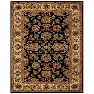 Grand Bazaar Tufted Wool Pile Adair Rug in Black/ Gold (3'6 x 5'6)