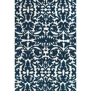 Grand Bazaar Polyester Karlin Area Rug in Midnight Blue (8' x 11')