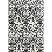"Grand Bazaar Karlin Ebony / White Area Rug (9'6"" x 13'6"") - 10' x 13'"