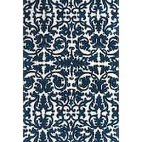 "Grand Bazaar Karlin Midnight Blue Area Rug (9'6"" x 13'6"") - 9'6 x 13'6"