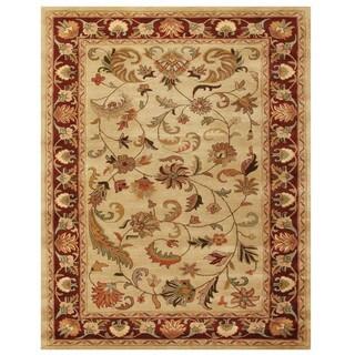 """Grand Bazaar Tufted Wool Pile Adair Rug in Ivory/ Red - 3'-6"""" x 5'-6"""""""
