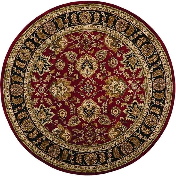 Grand Bazaar Adair Red/ Black Round Area Rug (8' x 8') - 8' x 8' Round