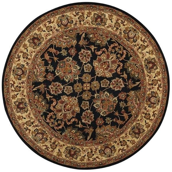 Grand Bazaar Adair Black/ Gold Round Area Rug (8' x 8') - 8' x 8' Round