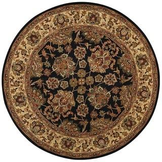 Grand Bazaar Tufted Wool Pile Adair Rug in Black/ Gold (8' x 8' Round)