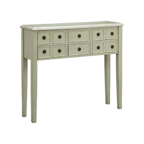 "Chesapeake Sage Green Accent Chest - 40"" wide x 10"" deep x 35"" high"