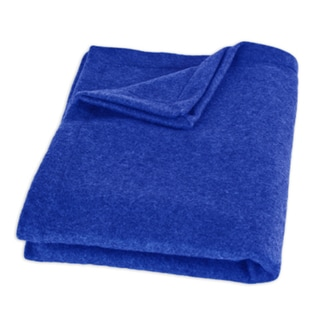 Fleece Royal Blue Top Stitched Throw Blanket
