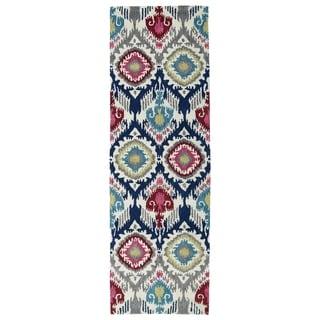 Hand-tufted de Leon Boho Multi Rug (2'6 x 8')
