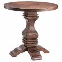 Chisholm Reclaimed Poplar Wood Pedestal Table