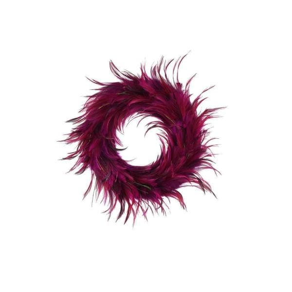 Shop Hackle 18 Inch Peacock Feathers Holiday Wreath 18