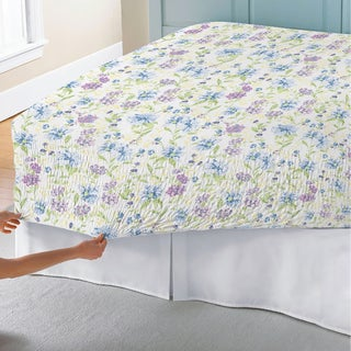Bed Tite Marissa Floral 300 Thread Count Cotton Percale Sheet Set
