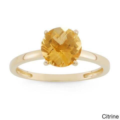 Gioelli 10k Yellow Gold 2ct Round-cut Birthstone Rings