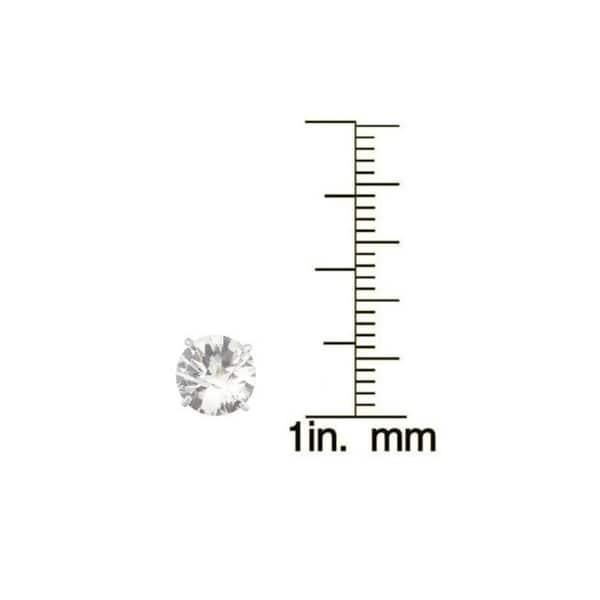 Gioelli 10k White Gold 1 3/4ct TGW 6-mm Round Created Birthstone Stud Earrings