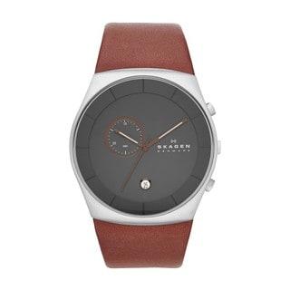 Skagen Men's SKW6085 Havene Chronograph Brown Leather Watch