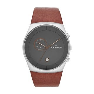 Skagen Men's SKW6085 Havene Chronograph Brown Leather Watch