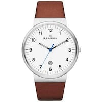 Skagen Men's SKW6082 Ancher Brown Leather Watch