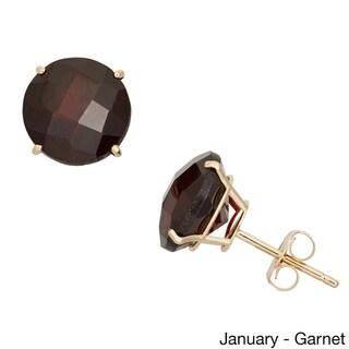 Gioelli 10k Yellow Gold 8mm Round Birthstone Stud Earrings
