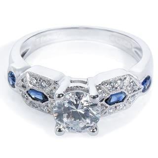Tacori Platinum 1/3ct TDW Diamond and Gemstone Engagement Ring (G-H, VS1-VS2) https://ak1.ostkcdn.com/images/products/9650893/P16833916.jpg?impolicy=medium