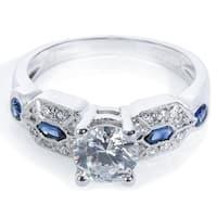Tacori Platinum 1/3ct TDW Diamond and Gemstone Engagement Ring (G-H, VS1-VS2)