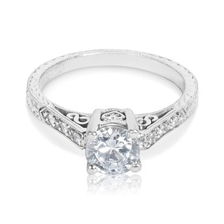 Tacori Platinum HT 2202 1/10 ctw Diamond Round Center Engagement Ring Setting