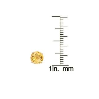 Gioelli 10k Yellow Gold 1 3/4ct TGW 6-mm Round Birthstone Stud Earrings