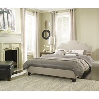 Sleep Sync Honey Brook Taupe Upholstered Platform Bed Complete (3 options available)