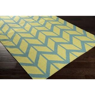Hand-woven Ora Reversible Wool Rug (5' x 8')