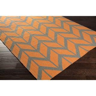 Hand-Woven Ora Reversible Wool Rug (3'6 x 5'6)