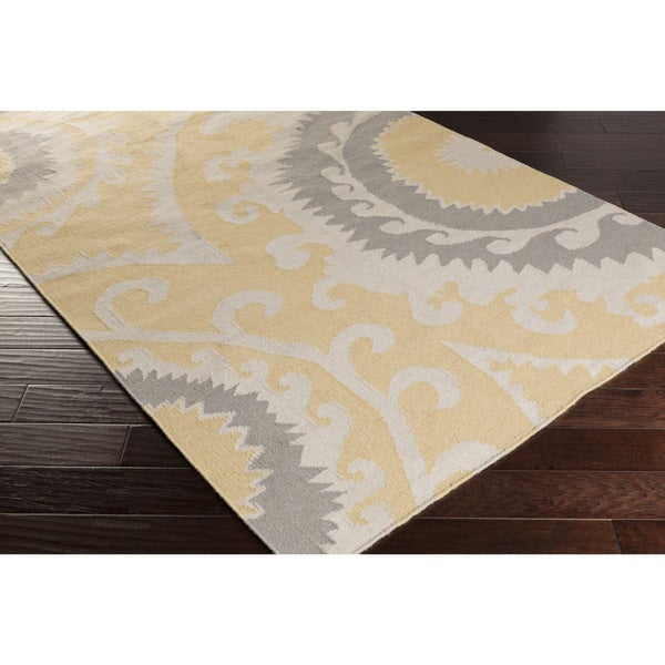Hand-Woven Sam Reversible Wool Area Rug - 8' x 11'