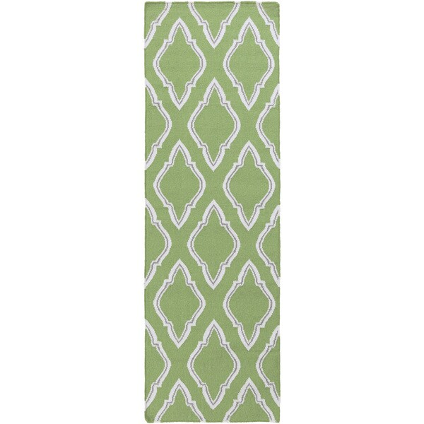 Hand-woven Asa Reversible Wool Area Rug (2'6 x 8')