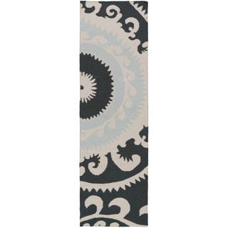 Hand-woven Sam Reversible Wool Rug (2'6 x 8')