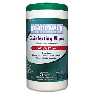 Boardwalk Disinfecting Wipes, 8 x 7, Fresh Scent, 75/Canister, 6 Canisters/Carton