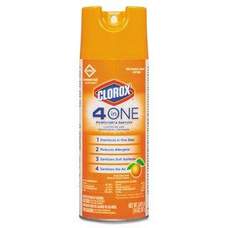 Clorox 4-in-One Disinfectant & Sanitizer, Citrus, 14oz Aerosol