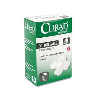 Curad Sterile Cotton Balls (130 per box)
