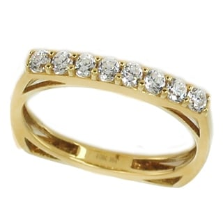 Michael Valitutti 10k Yellow Gold Cubic Zirconia Ring
