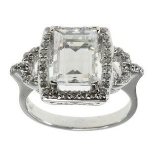 Michael Valitutti 14k White Gold Cubic Zirconia Ring