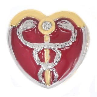 Michael Valitutti Sterling Silver Medilcal Heart Charm|https://ak1.ostkcdn.com/images/products/9652498/P16835600.jpg?impolicy=medium